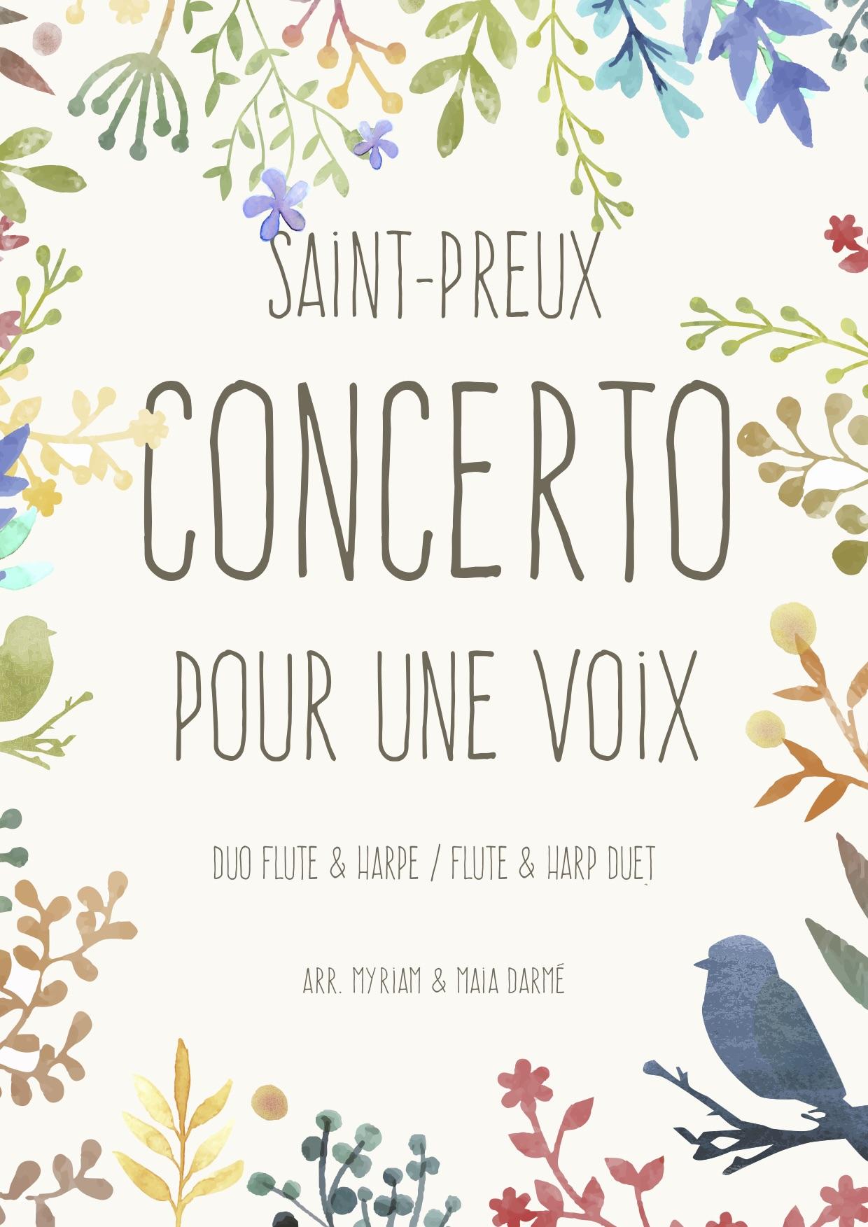Couverture concerto pour une voix